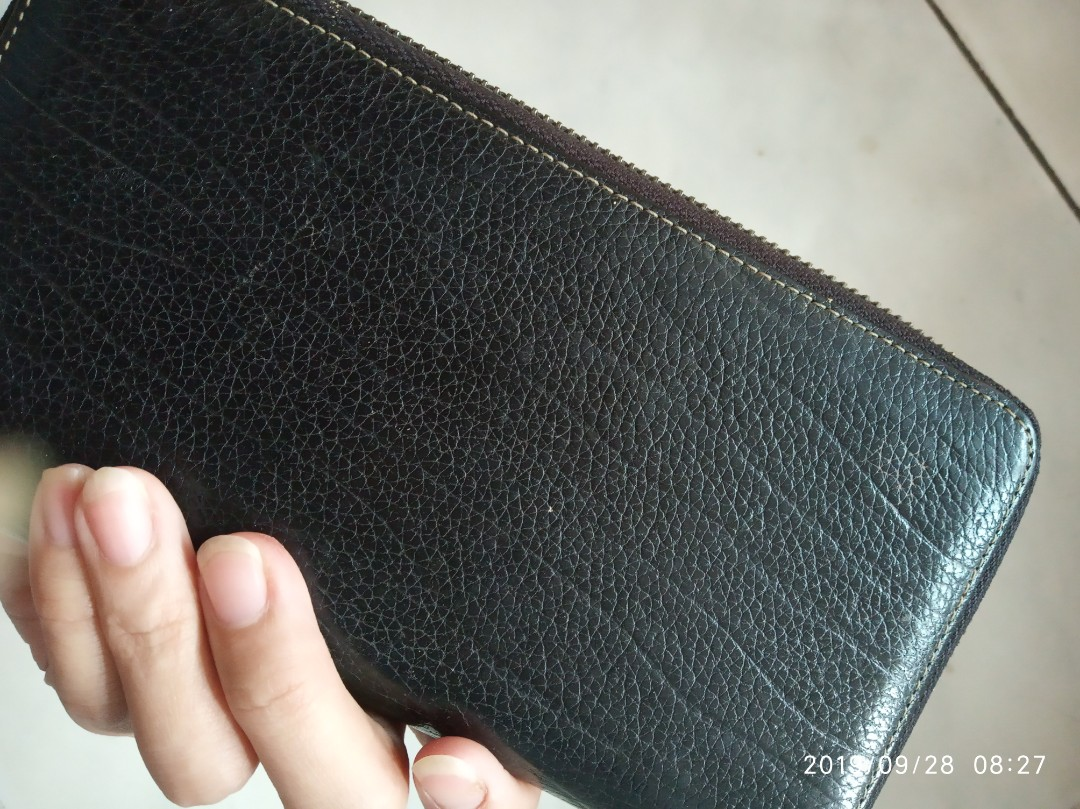 Bally Original Dompet Wanita Woman Wallet Hitam Polos Authentic Item Sale