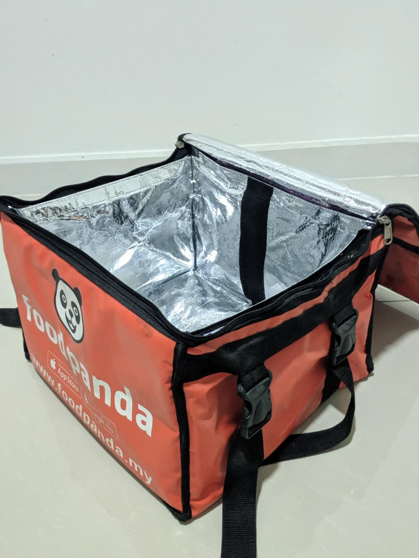 Beg foodpanda runner delivery orange small size, lalamove/grab/pickup