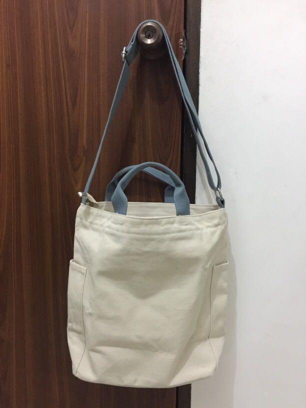 BN Canvas Tote Bag in Beige