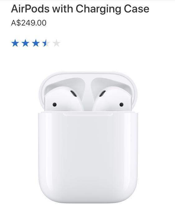 BRAND NEW APPLE AIRPODS 2 (w/ Charging Case)