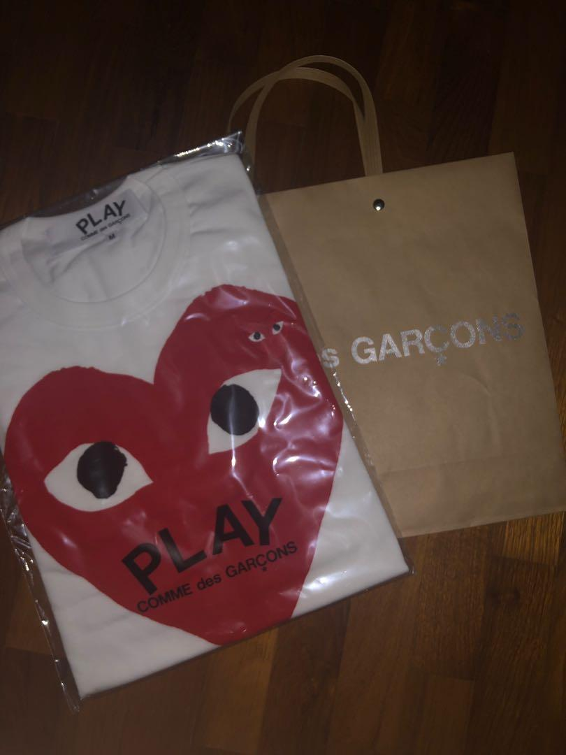 CDG red play t-shirt (white)