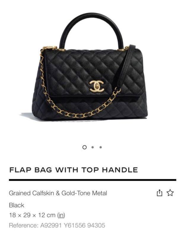 CHANEL CoCo Handle Black