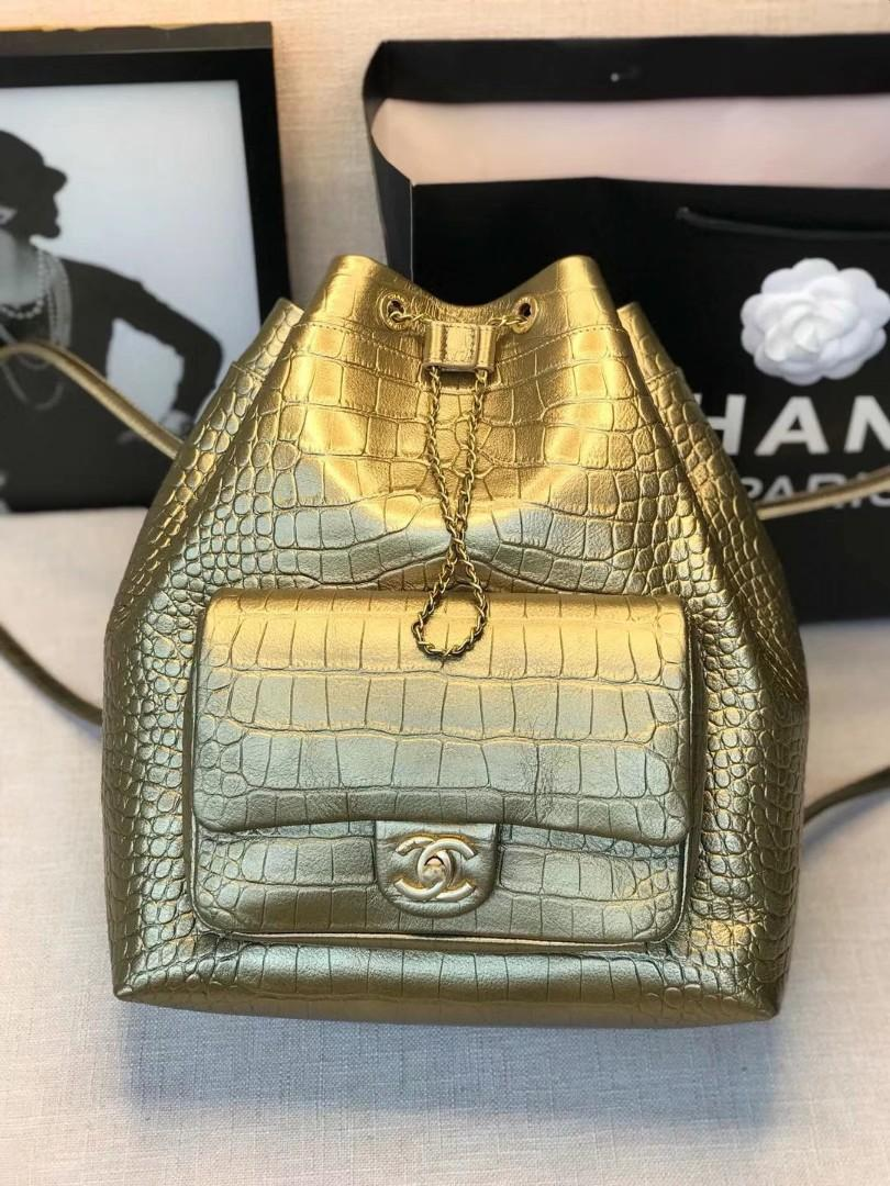 Chanell bucket backpack