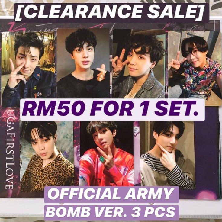 [CLEARANCE SALE] BTS ARMY Bomb Official Photocard full set