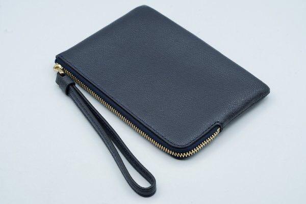 Coach Wrislet Wallet Woman Zipper Midnight Blue Original From Store