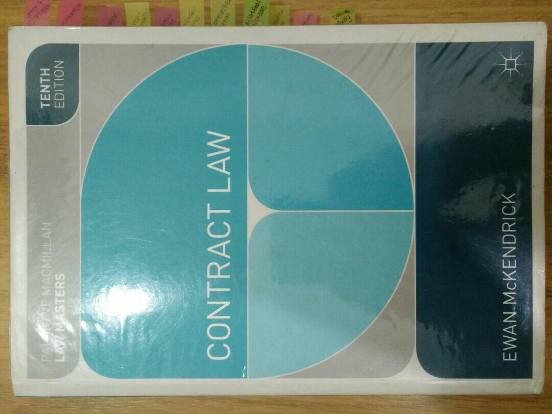 Contract law - Ewan Mckendrick (10th edition)