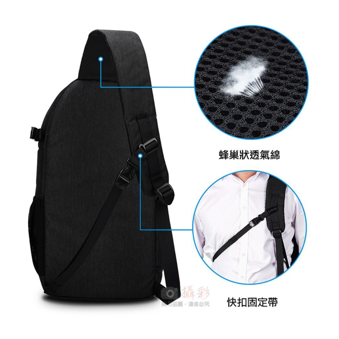 卡登D15斜肩包 CADEN 單眼相機包 1機3鏡 防潑水表層 耐磨材質 行李艙 可掛腳架 收納水壺