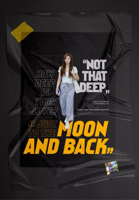 DELTA TRAP TZUYU new year calendar with slogan TWICE