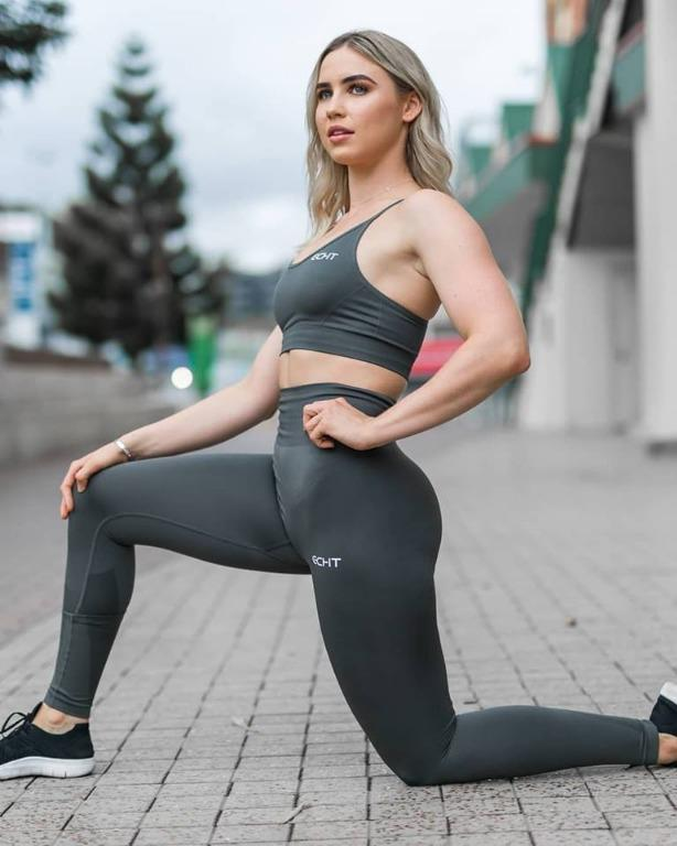 ECHT Force Dry Leggings Dark Green Small Workout Yoga Exercise Pants Army Camo