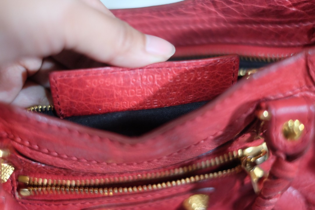 REPRICE!! // FOR SALE - [pre-owned] Balenciaga Mini City Rouge Cardinal GHW 2016