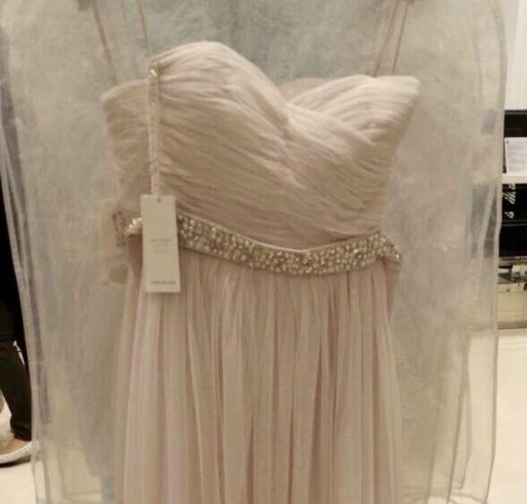 Forever New multi-way (8 styles) pale pink maxi tulle dress rrp$199