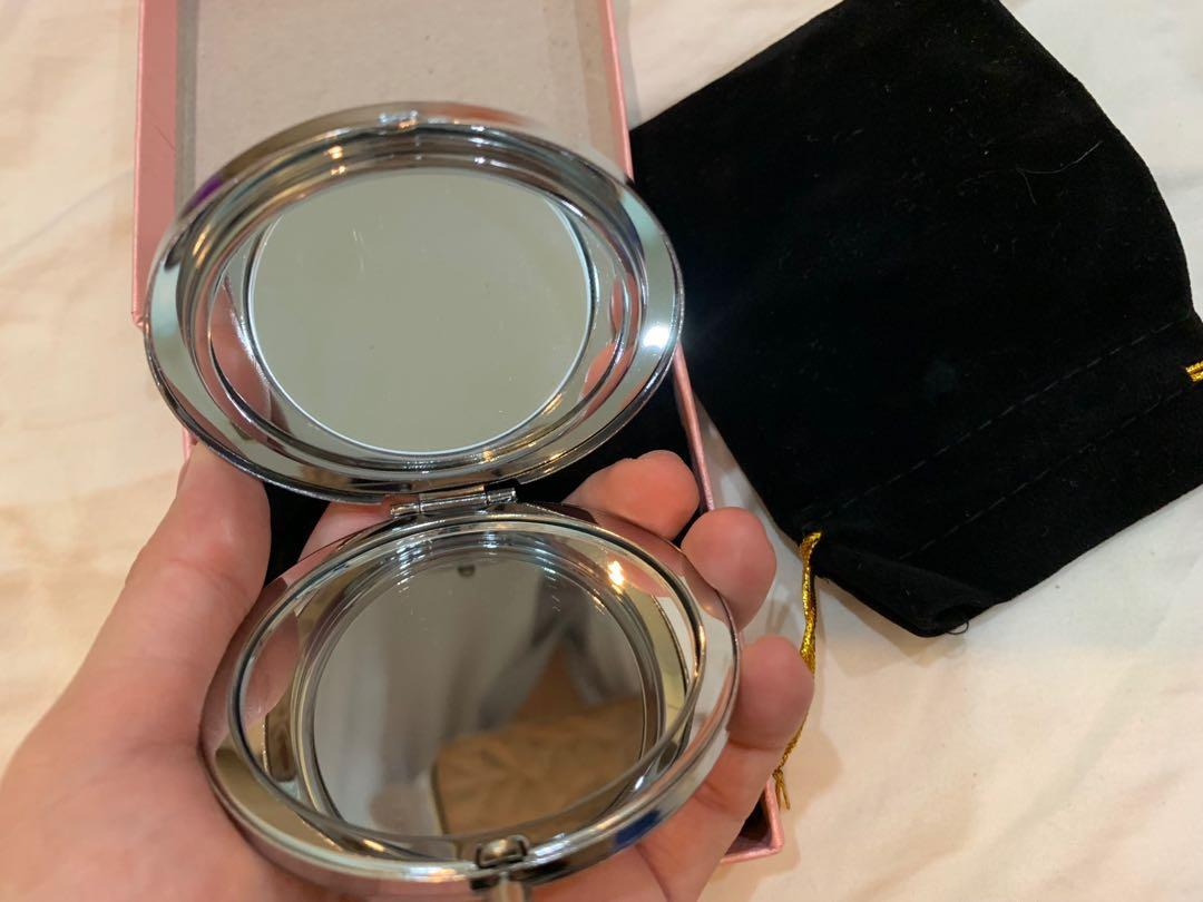 Gift for SARAH.High grade metal / high -grade crystal mirror,Double-sided flooding small mirror