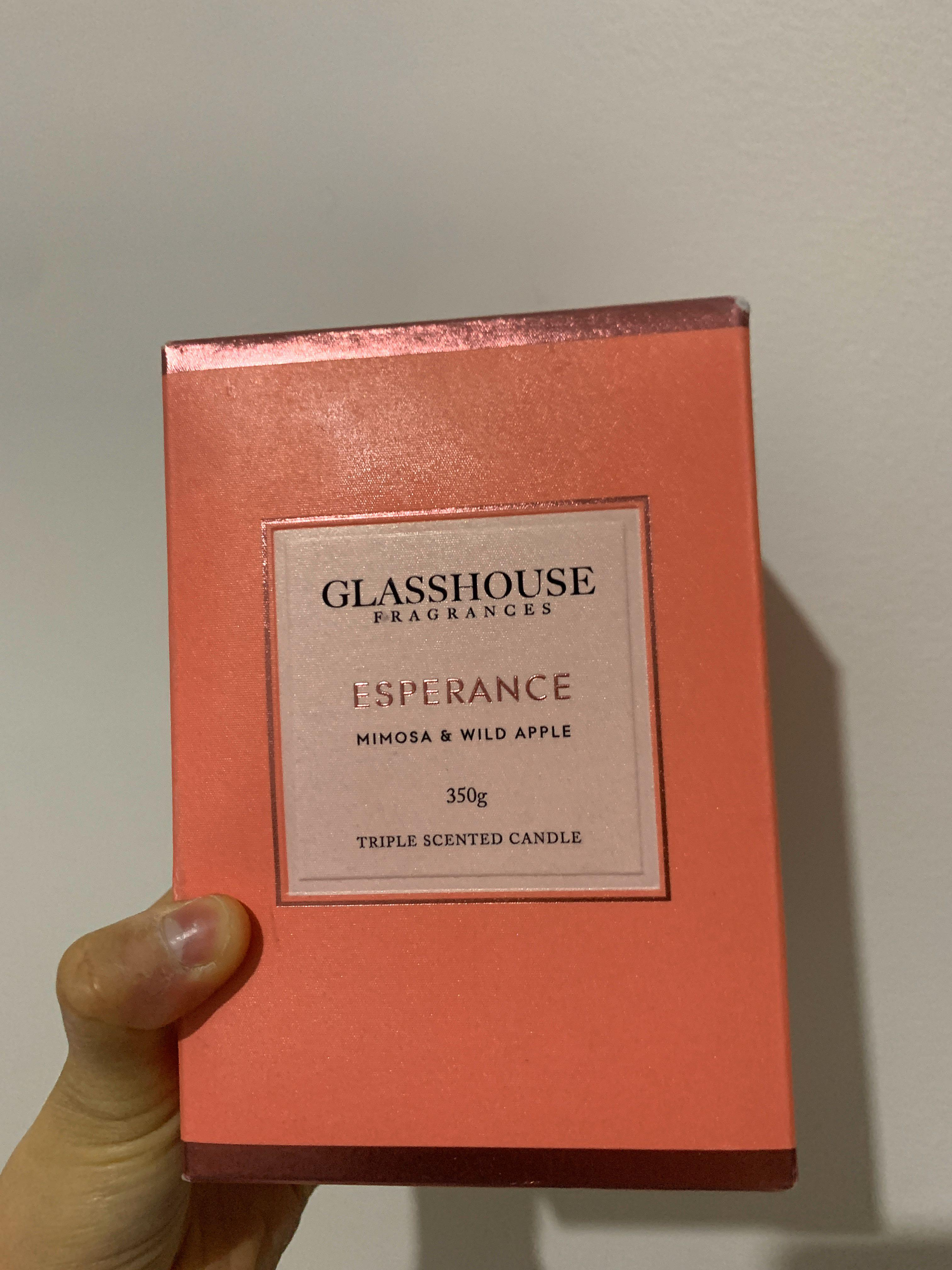 Glasshouse Fragrance Candle - Mimosa & Wild Apple 350g