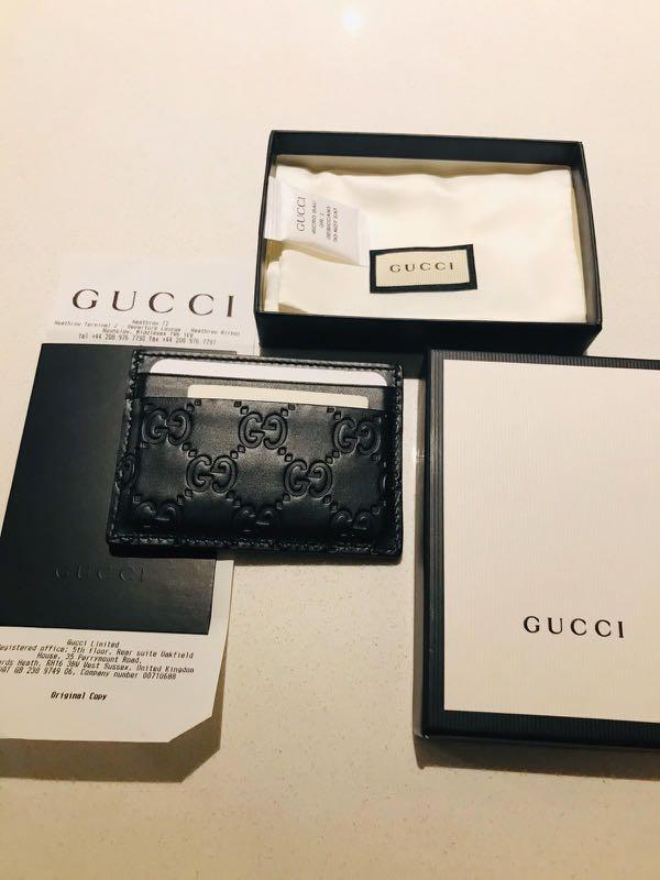 Gucci Card Holder Worn Once complete with box dust bag receipt