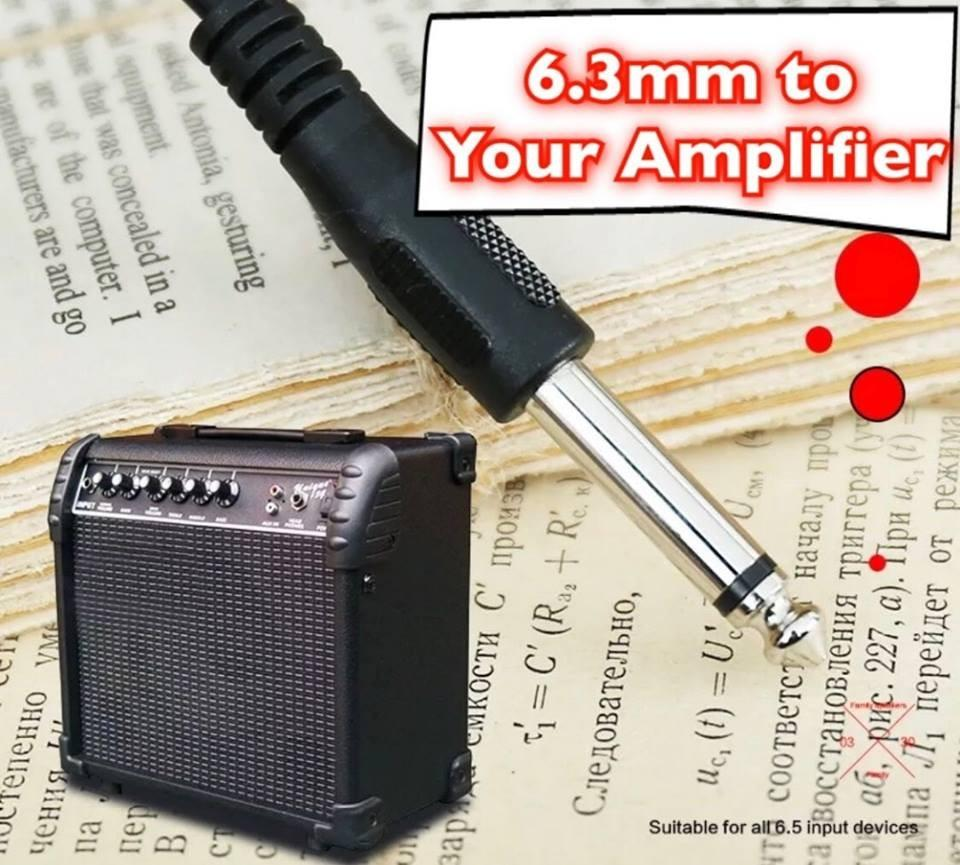 Guitar Sound Pickups for Acoustic/Electric 3m Long Wire to Amplifier Speaker!! Budget Plan!!