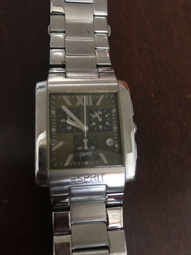 Jam tangan Esprit watch stainless steel silver unisex pria wanita