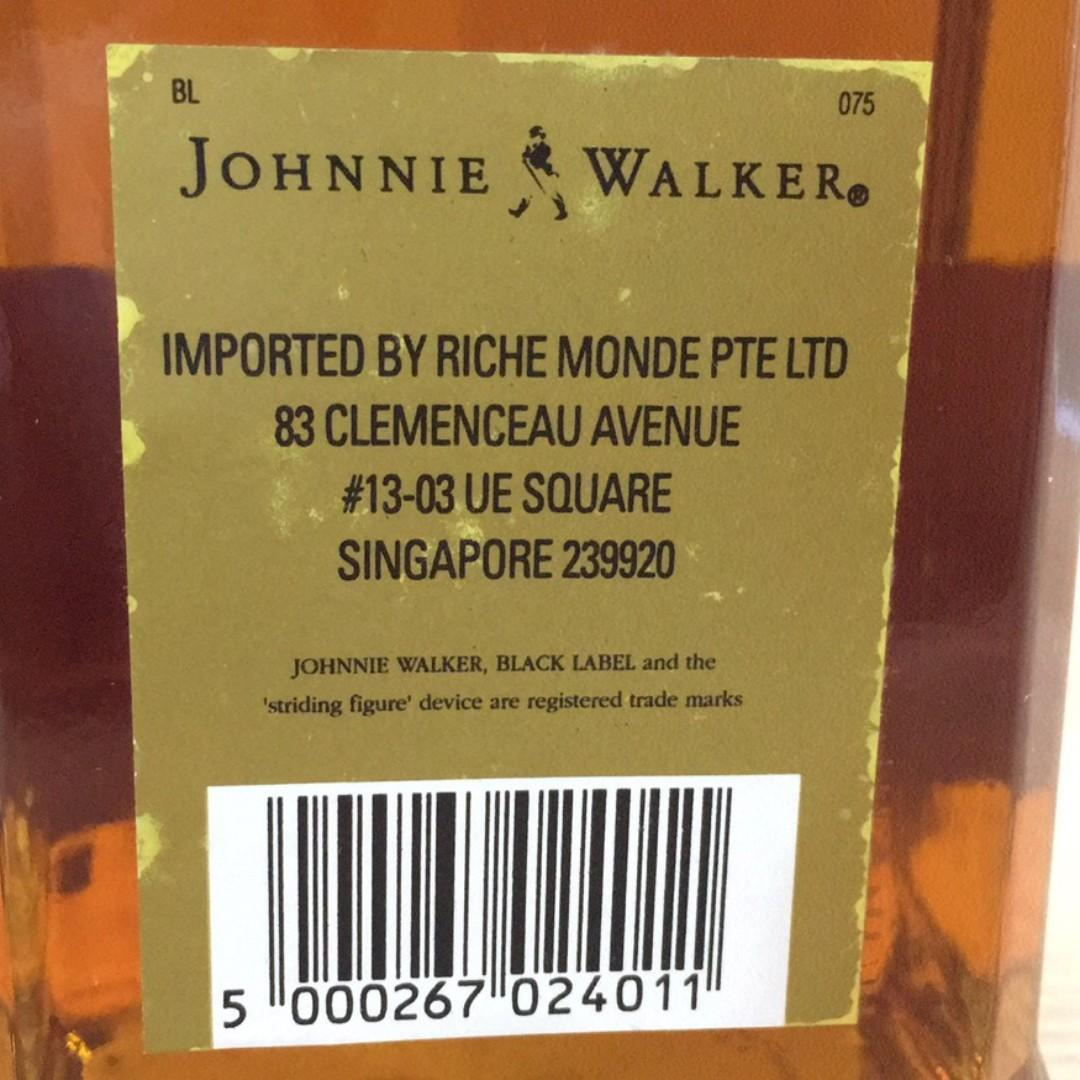 Johnnie Walker Scotch Whisky - Black Label (750ml)