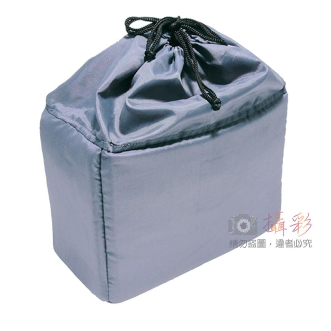 Kamera 束口相機內袋防護套 灰色 相機包 鏡頭袋 保護套 內膽獨立式可放包內輕鬆攜帶 束口型