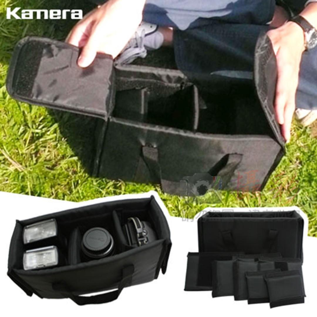 Kamera 手提相機內袋防護套 黑色 可側背相機包 鏡頭保護套 內膽獨立式 可放包內 外出手提側背包