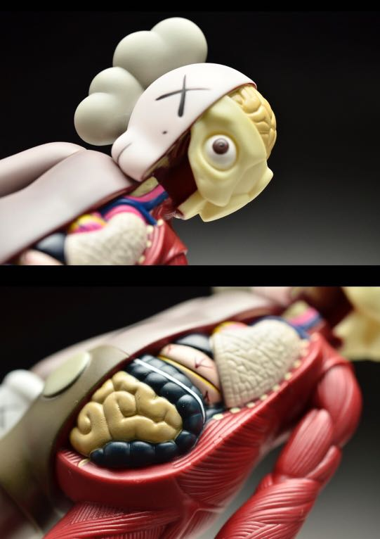 KAWS Original Fake COMPANION 8吋高半解剖人体模型(1套3個)