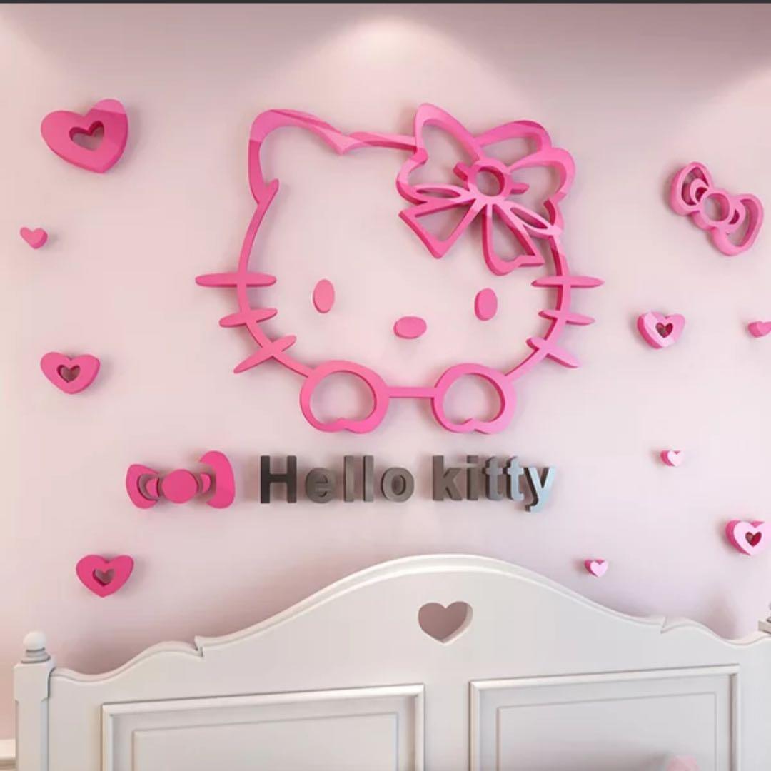 Kitty牆壁貼
