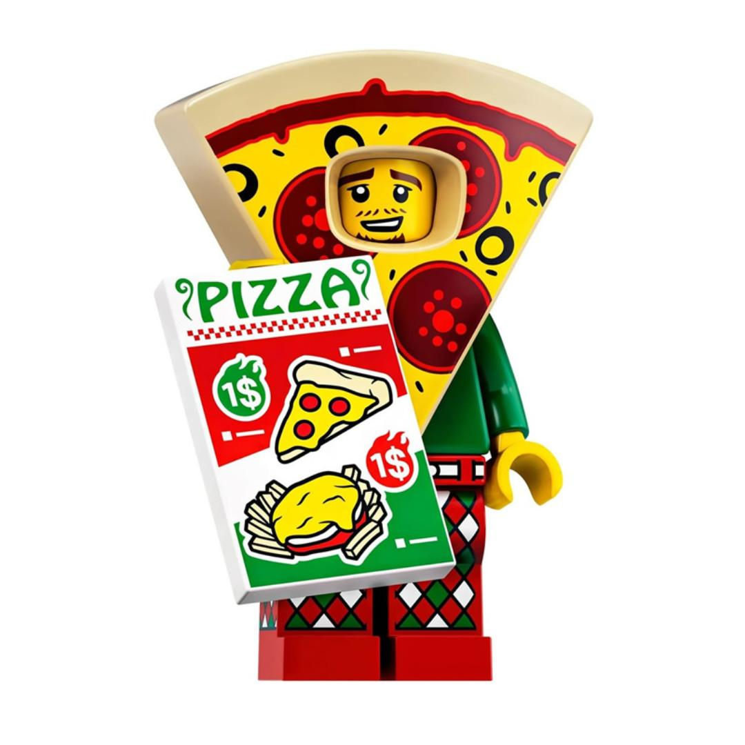 Lego Series 19 Minifigures - Pizza Costume Guy