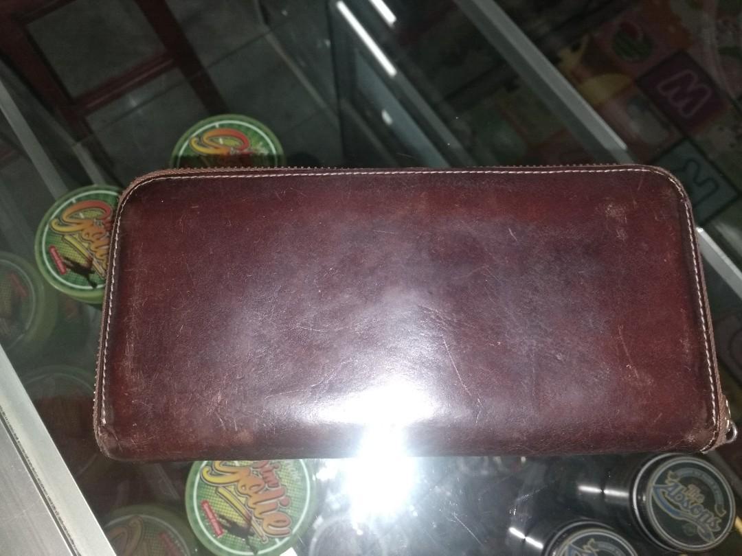 long wallet original leather
