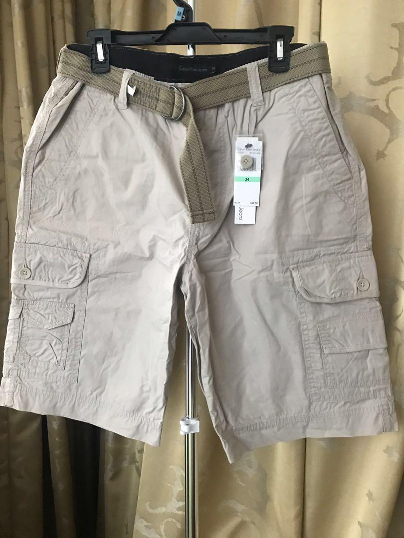 Men's Calvin Klein Jeans Fashion comfort cargo pants adjustable belt