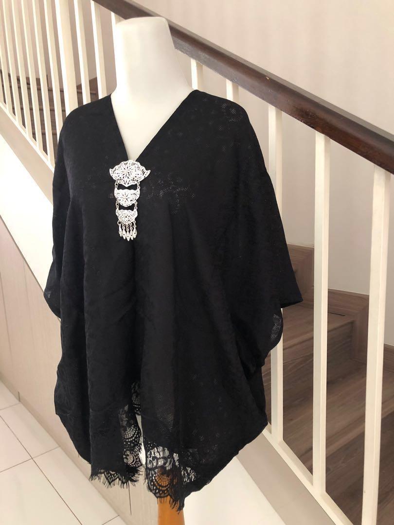 NEW Mini Kaftan Black With Lace-Nett price