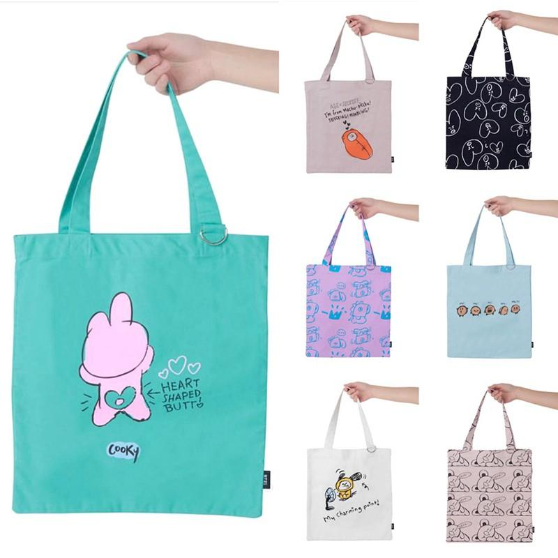 [PREORDER] BT21 Official Authentic Goods Drawing ToteBag