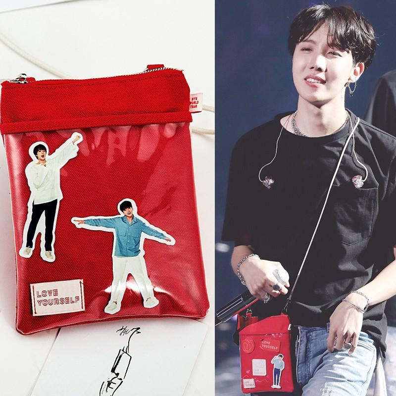 [PREORDER] BTS LOVE YOURSELF Concert Mini Canvas Sling Bag + Stickers