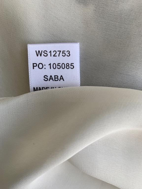 SABA Beige Black City Print 100% Silk Shift Dress Sz AU 8