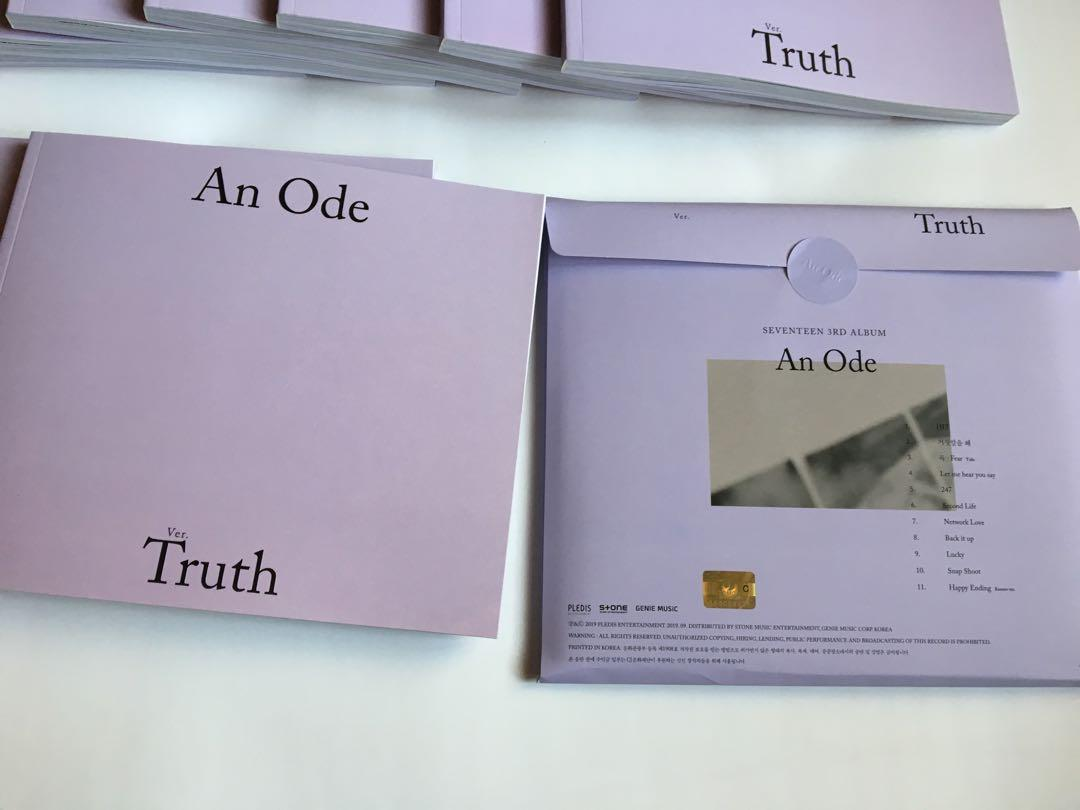 Seventeen An Ode Unsealed Albums Truth Version