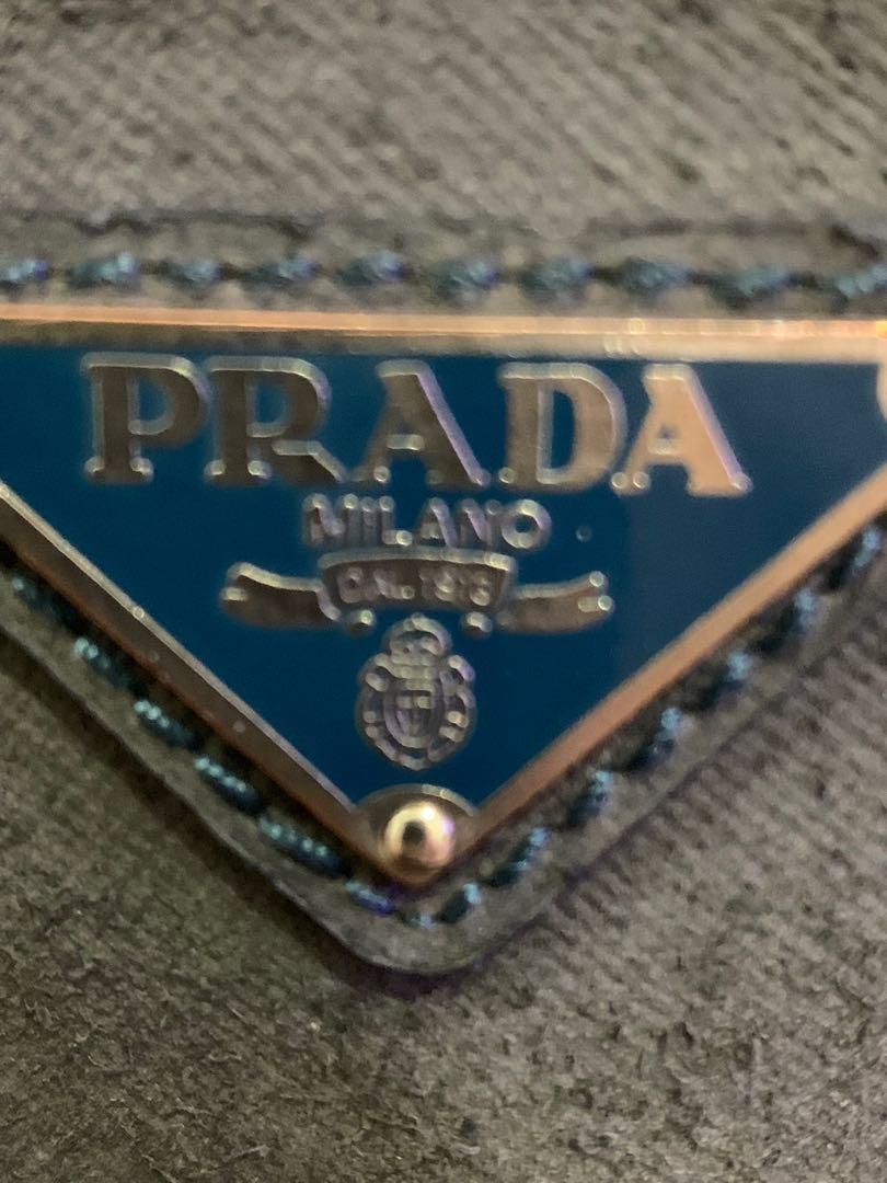 Tas slempang Prada authentic full suede leather 36 x 26 x 9 cm mewah Unisex 90% OK with cards