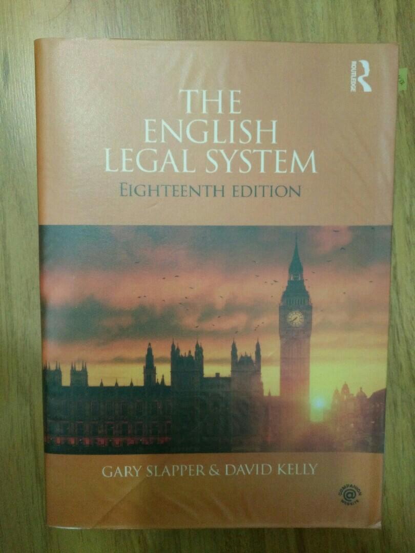 The English Legal System - Gary Slapper (8th edition)
