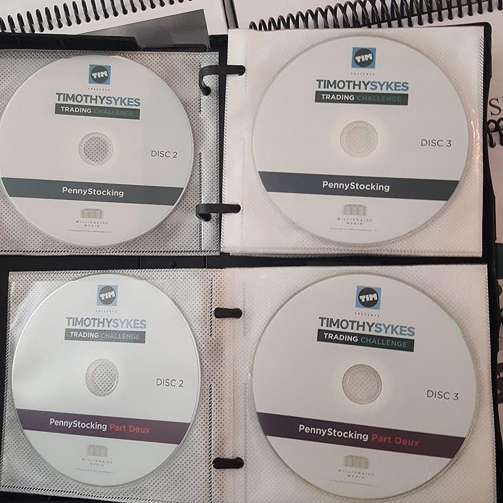 Timothy Sykes Trading Millionaire Challenge DVDs + All Manuals