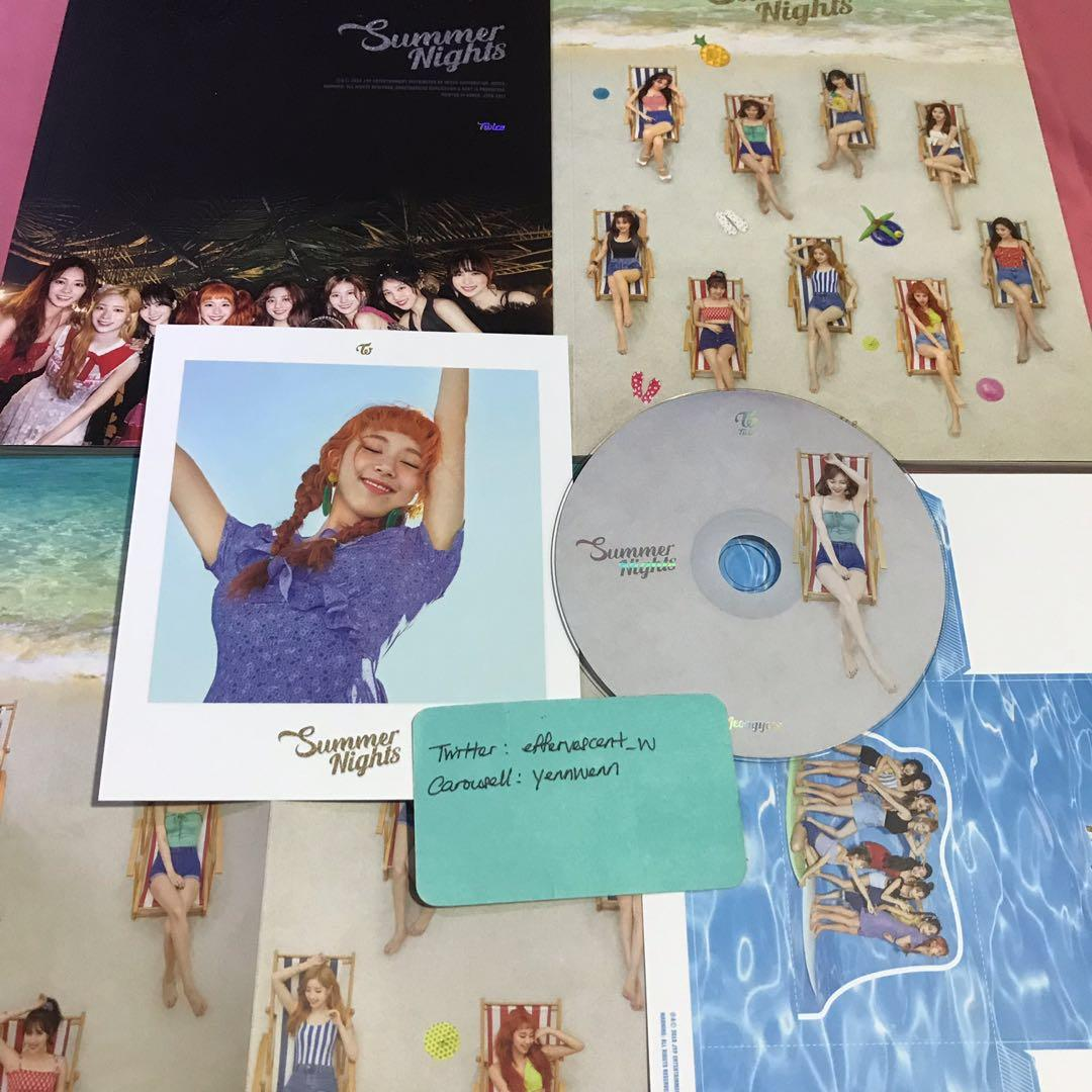 Twice The 2nd Special Album Summer Nights DTNA Chaeyoung Jeongyeon Set