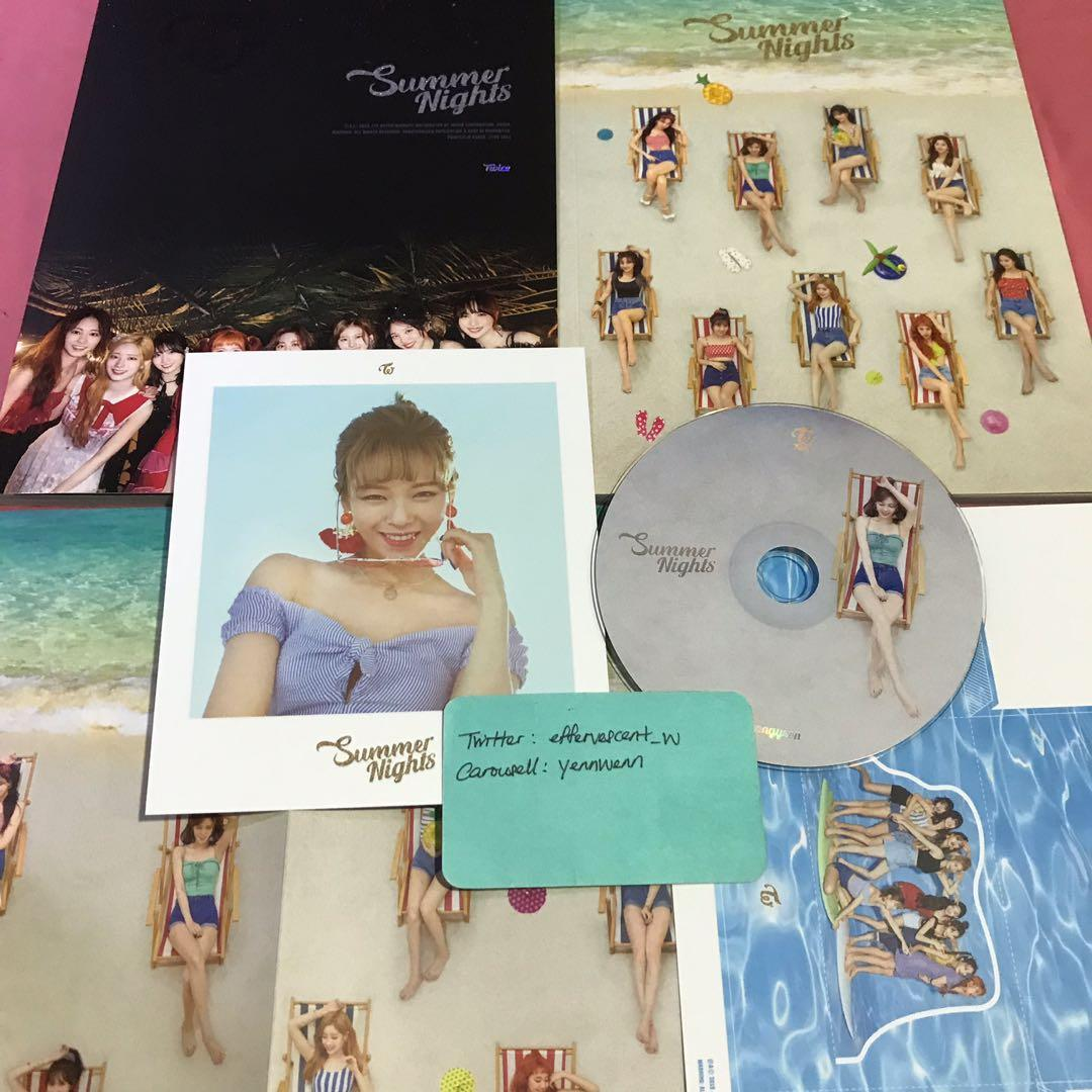 Twice The 2nd Special Album Summer Nights DTNA Official Album Jeongyeon Set
