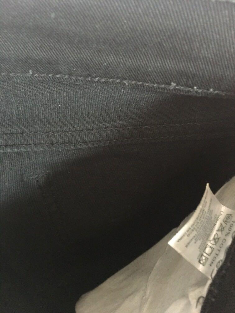 Vans 滑板黑直腳褲