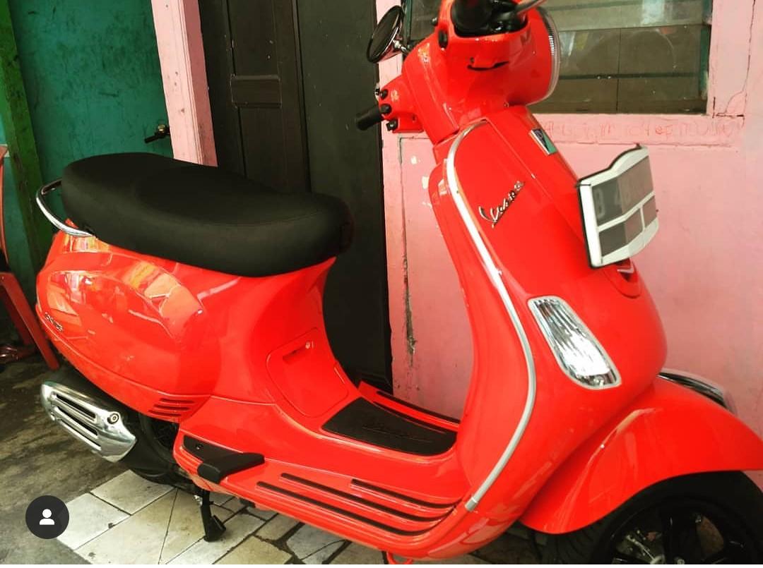 Vespa lx 125 2018 red dragon