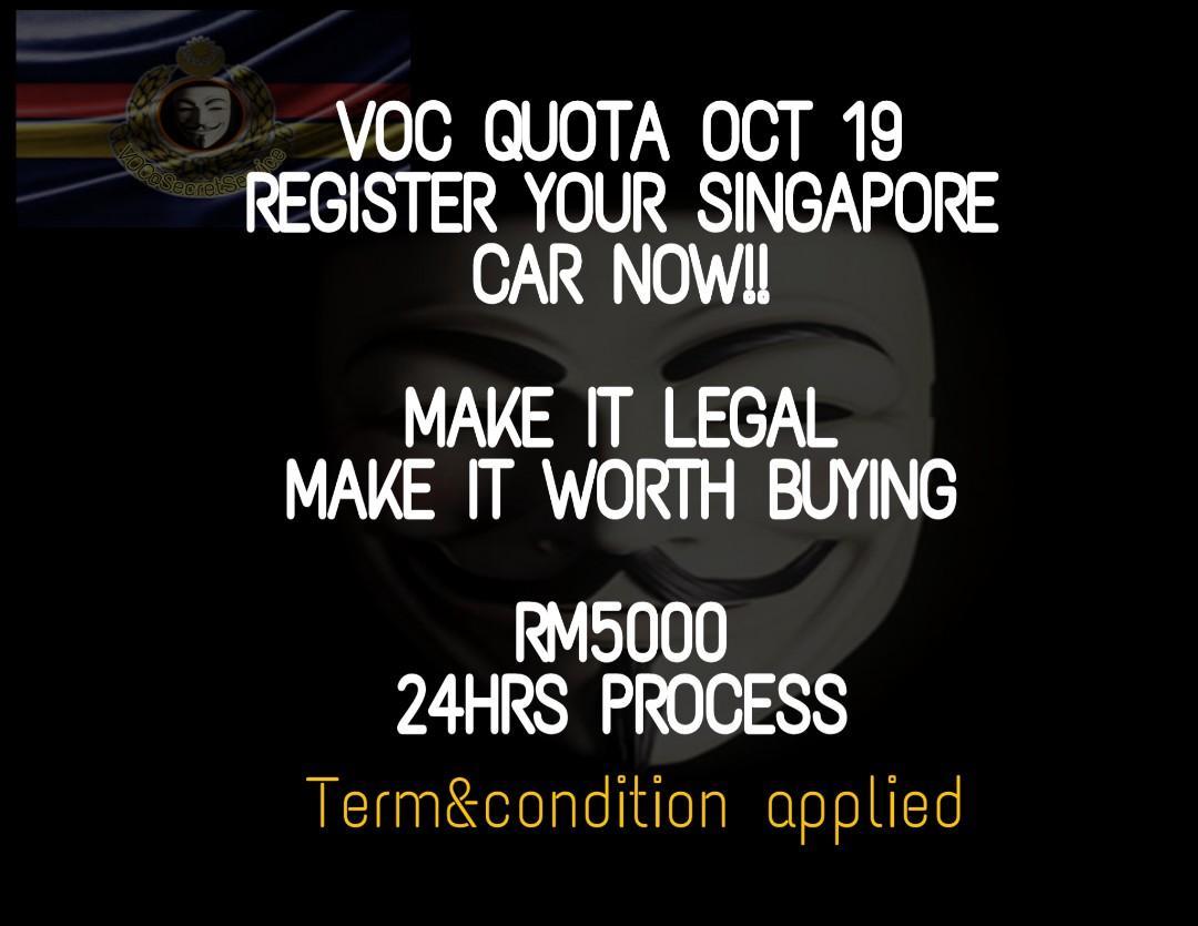 Voc Registeration for sg car