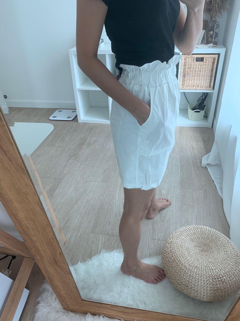 White skirt skort bottom
