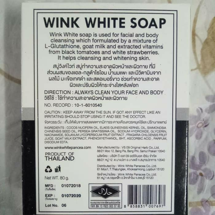 Wink  White Soap ORI