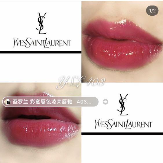 YSL lip vinyl #412&403