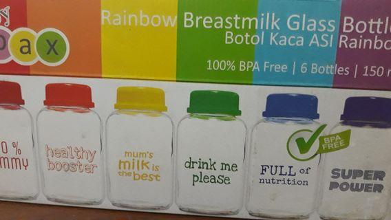 Botol Kaca Asi Rainbow