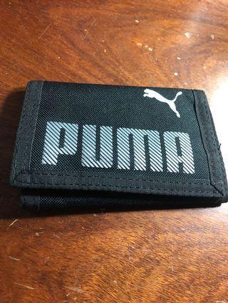 Puma 黑 短夾 運動錢包 三摺式