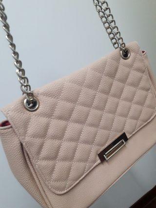 Bata Beige Sling Bag /Handbag