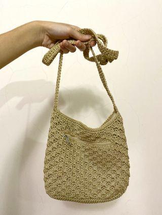 新!隨身編織側背包