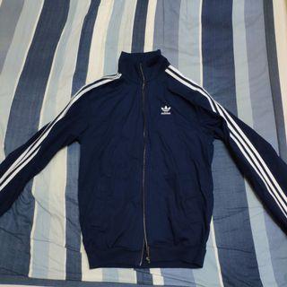 正品 Adidas 三線 刺繡 logo 三葉草 棉質 外套 長袖
