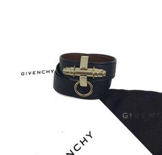 Givenchy obsedia 3 row black bracelet